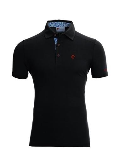 Panthzer  Tofino Erkek Polo Yaka T-Shirt Siyah